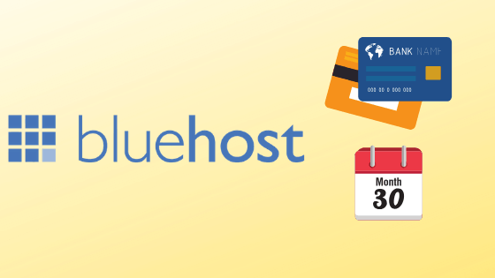 does bluehost charge monthly